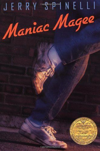 Maniac Magee by Jerry Spinelli http://smile.amazon.com/dp/0316809063/ref=cm_sw_r_pi_dp_PrHdub1YW6E5Y