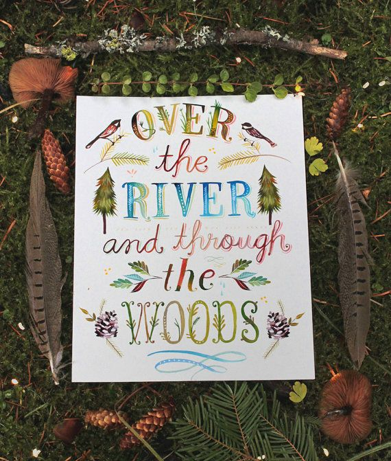 Over The River and Through The Woods by thewheatfield on Etsy