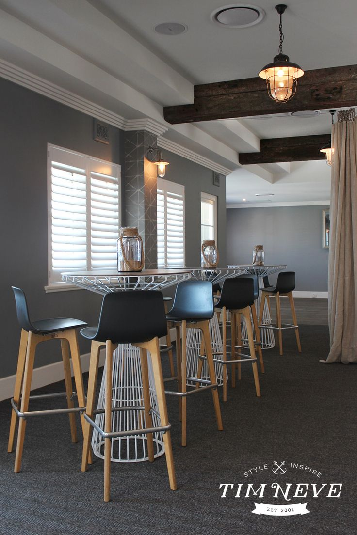 Nautical inspired interior design by stylist Tim Neve for the Beach Hotel, Newcastle - Functions Level,  Now Open.