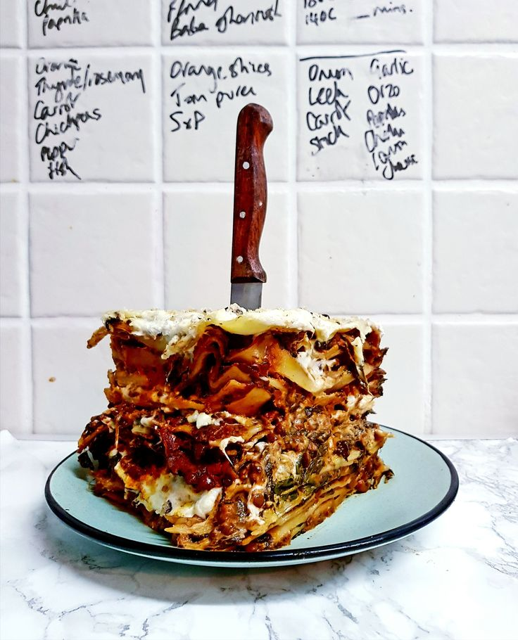 Vegetarian budget friendly lasagne from Jack Monroe