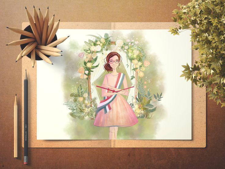 flyer mockup for a wedding business Telek Dalma szertartásvezető  graphic: eleonor's stuff 2017   fb:     eleonor meseportréi  web: soon