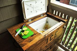 Turn a Tarva chest into a cooler for your porch. | 33 Unexpected Things You Can Make With Ikea Products