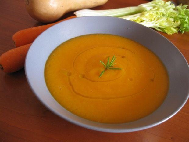Vellutata di zucca, carote e patate