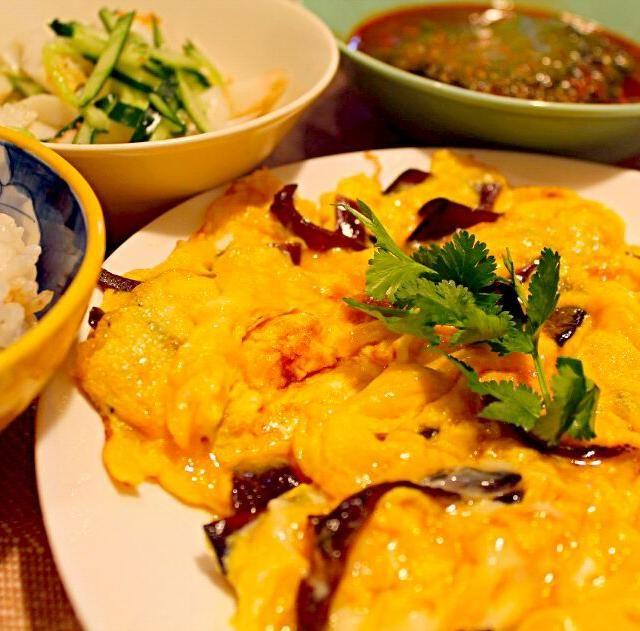 自画自賛だけど、美味しかったの( ´艸`) - 84件のもぐもぐ - きくらげ入りのタイ風卵焼き by chibimega