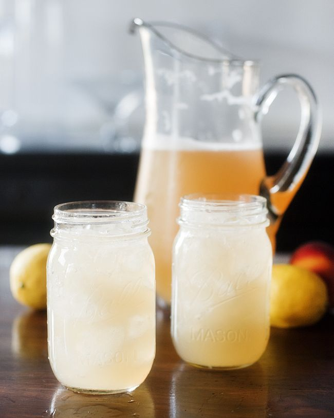 Southern Shandy - Light beer mixed with lemonade and peach brandy. Perfect hot day sipping cocktail.