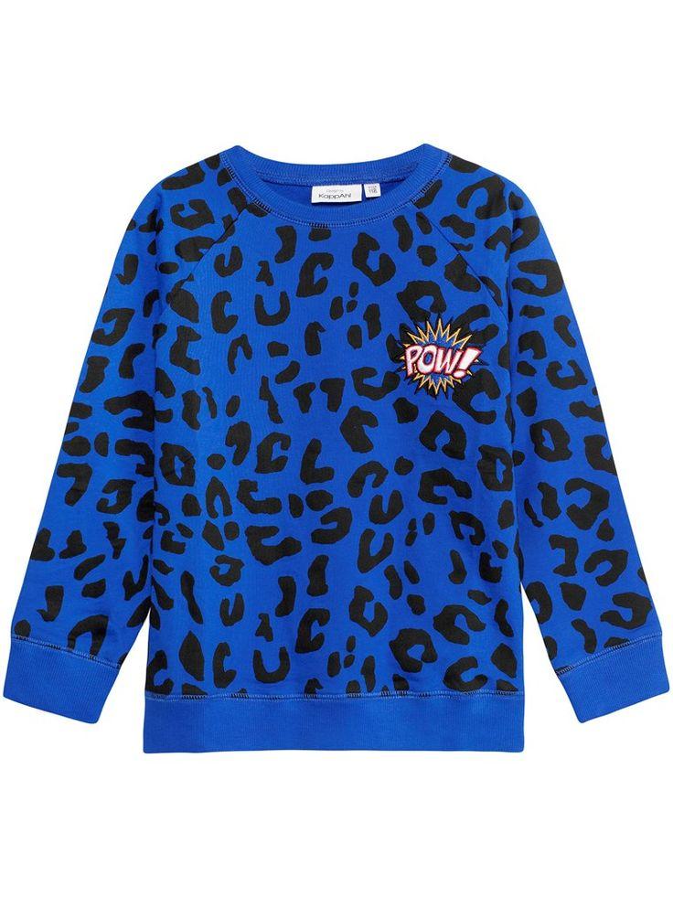Leopardmönstrad tröja - Blå - Barn - Hos KappAhl
