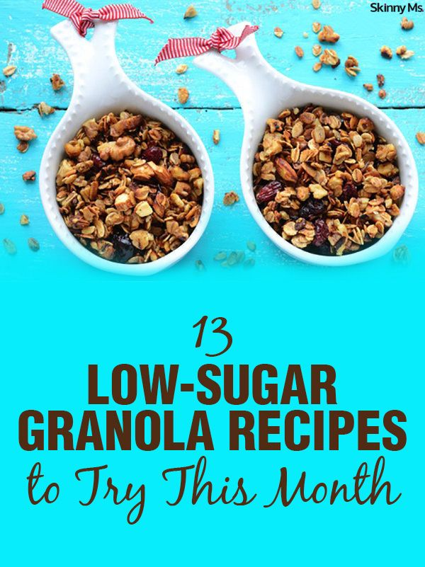 These 13 Low Sugar Granola Recipes to Try This Month have no processed sugars and are made with tons of healthy nuts and seeds.
