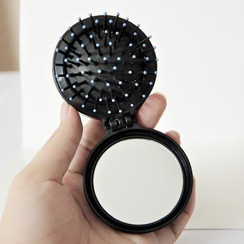 make-up-Spiegel mit klapp mini massage combs und kleine kosmetik mini taschenspiegel