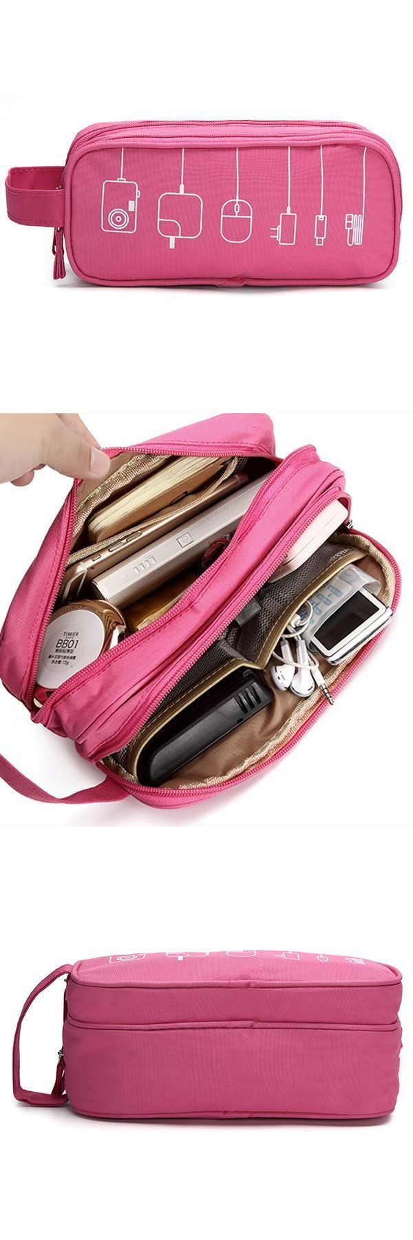 Women Graffiti Toiletry Bag Cosmetic Travel Must Have High End Digital Usb Cable Storage