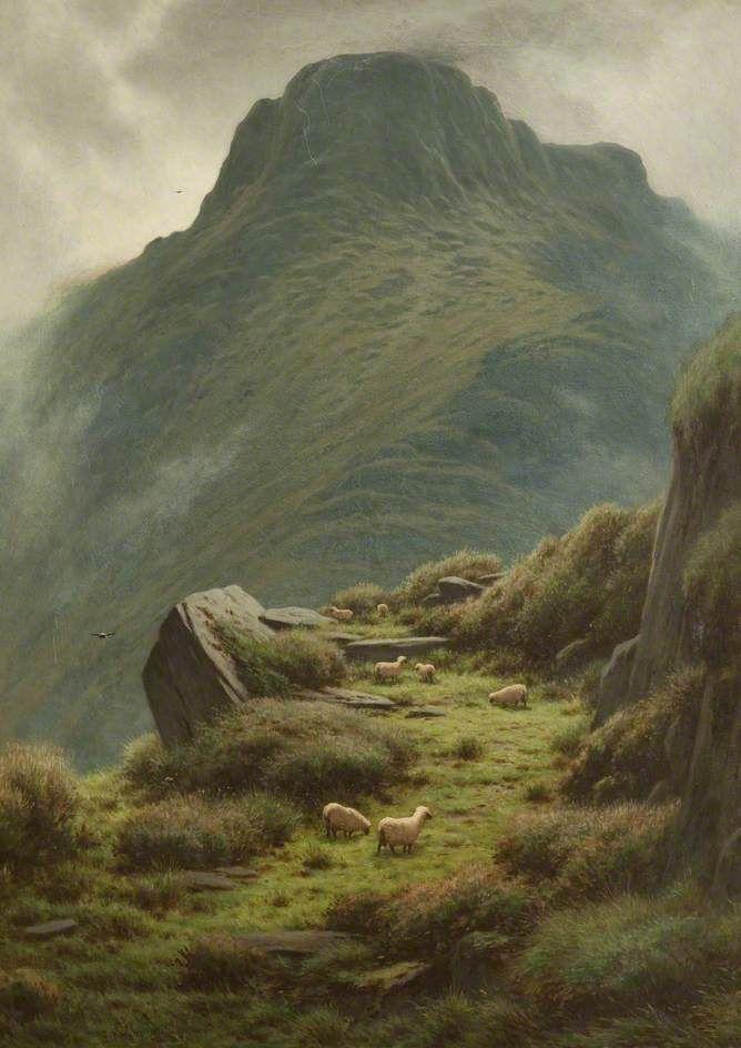 Y Garn Mountains Joseph P. Knight (British, 1837–1909)  Oil on canvas, 121.92 x 86.36 cm, 1891. Blackburn Museum and Art Gallery.