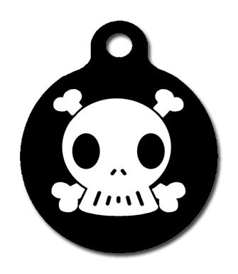 Skull And Crossbone Dog Tags For Pets