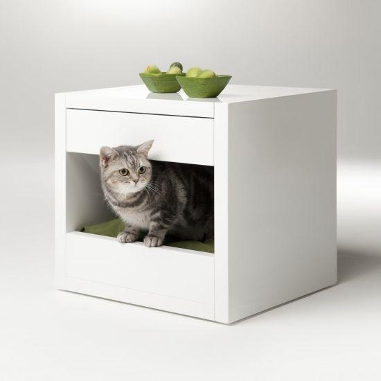 bloq - pet bed + storage solutionCat Beds, Pet Furniture, Pets Beds, Side Tables, Binq Design, Pet Beds, Pets Furniture, Pets House, Small Spaces