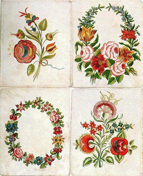 Planche d'échantillons d'Istvan Fulep, tailleur à Miskolc, vers 1820