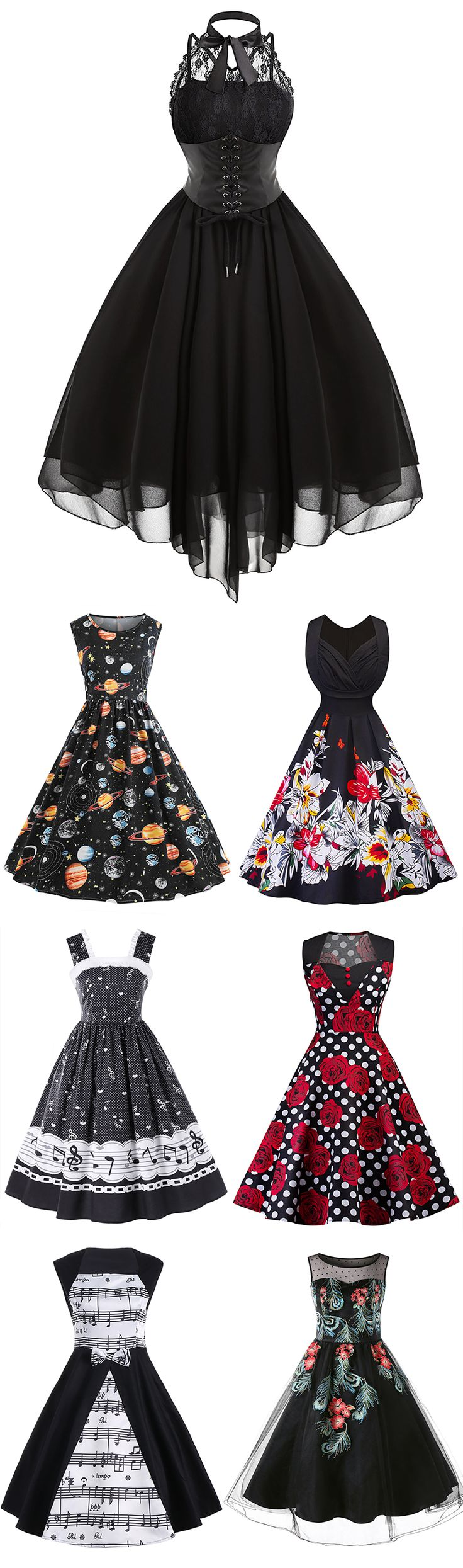 100+ New Arrived Vintage Dresses | Starting from $13| Sammydress.com | #vintage #dress #womenfashion