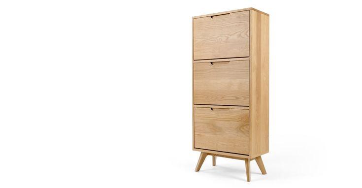 Jenson Schuhschrank, Eiche ► Modernes Design für mehr Ordnung daheim! Entdecke jetzt Aufbewahrungsmöbel bei MADE.