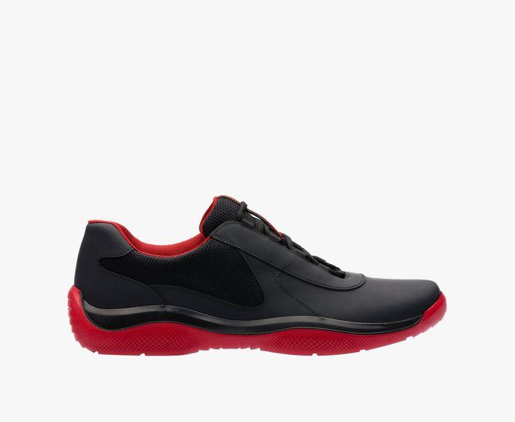 Chaussures De Sport En Tissu En Cuir Printemps / Été Prada 5IxJbhVA