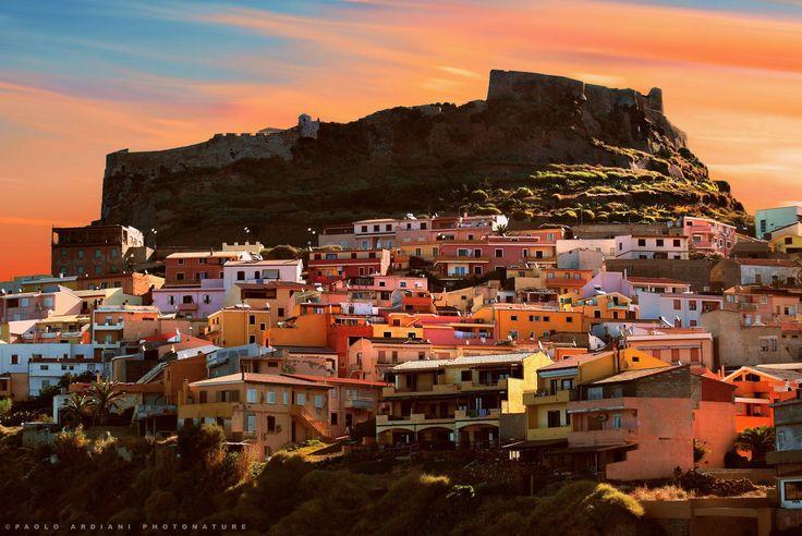 Sunset on #Castelsardo , #Sardinia