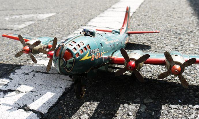 1950s 米澤玩具・三陽工業製 ブリキの戦闘機 BOEING B-50A