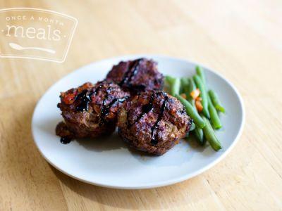 Paleo Balsamic Vegetable Mini Meatloaf