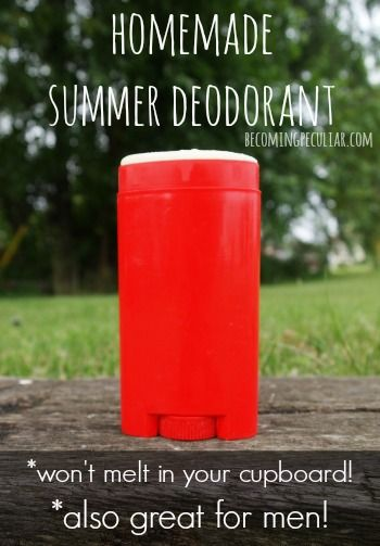 DIY Deodorant -easy homemade summer deodorant for men (that won't melt in your…
