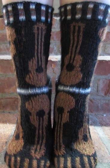 Musica Guitar Socks - Knitting Patterns and Crochet Patterns from KnitPicks.com