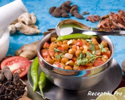 Постные блюда: индийская чана масала