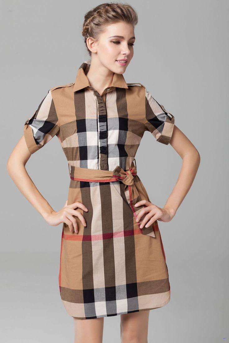 مدل لباس کوتاه چهار خانه طرح جدید