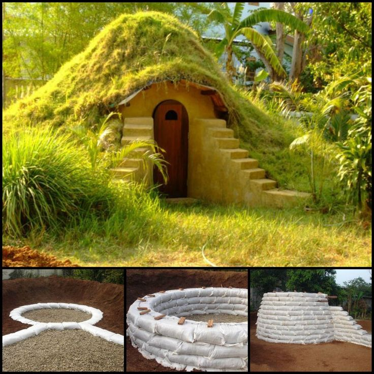 This interesting structure is an earthbag dome. Earthbags, sometimes called sandbags, were originally used by the military as protective shelters, or for flood control. The concept is also applied for creating housing.   Learn how it's made by viewing the full tutorial here: http://theownerbuildernetwork.co/ha7e  It's well suited for many purposes. You can use it as a cool getaway space in summer. A warm escape for the winter.