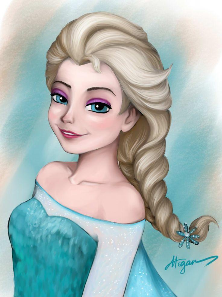 My digital drawing of ELSA #elsa #frozen #megan