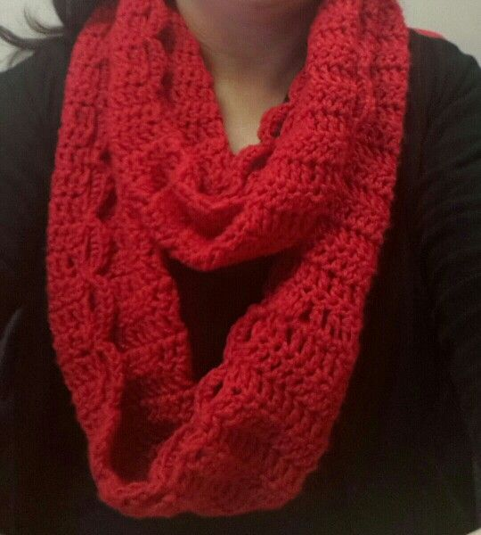 My first crocheted snood!