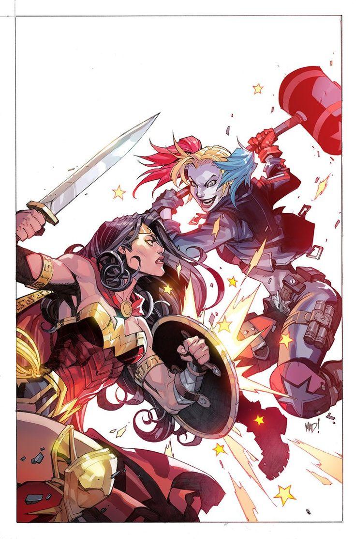 Wonder Woman vs Harley Quinn by Joe Madureira