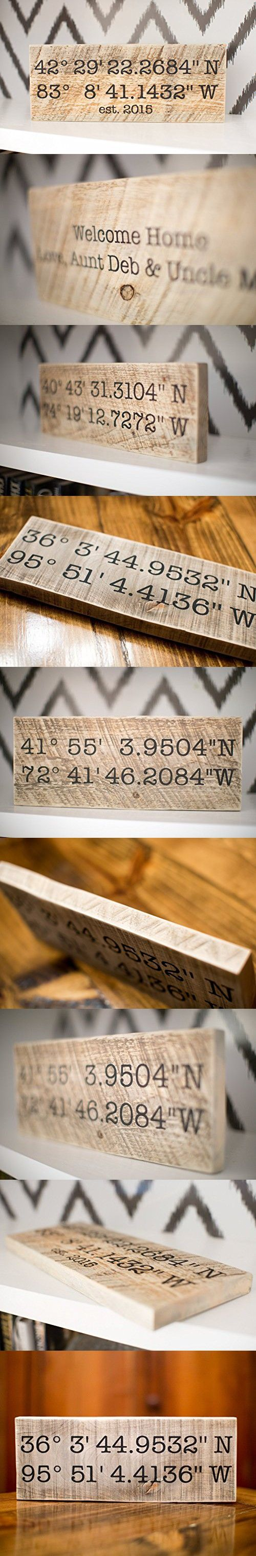 Latitude Longitude GPS Coordinates Sign | Wedding Gift | Home Decor Sign | House Warming Gift | New Home | Personalized Gift | Reclaimed | Wooden Personalized Signs