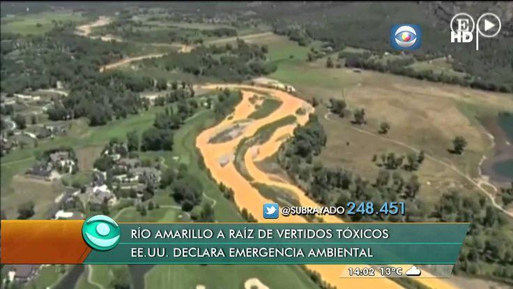 Rio amarillo debido a vertidos toxicos en EEUU.    (11815)