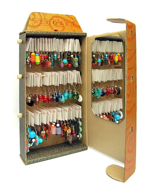 Earing organizer for the wall