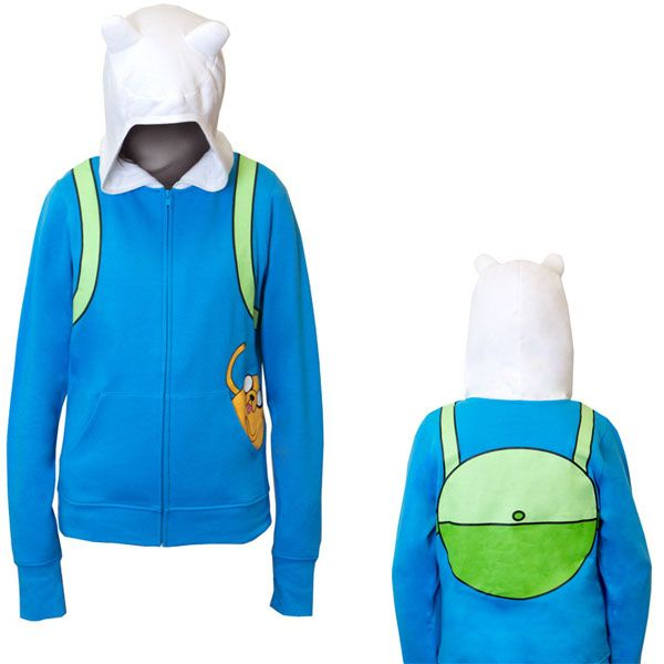 Adventure Time Finn Hoodie, I must have you.Right now. UPDATE: Bought it. own it, and i love it. but i will say that i must look like a total idiot when i wear it in public. like, as an adult, i mean. I didn't think that far ahead....who cares tho, cuz i think it's totally math.