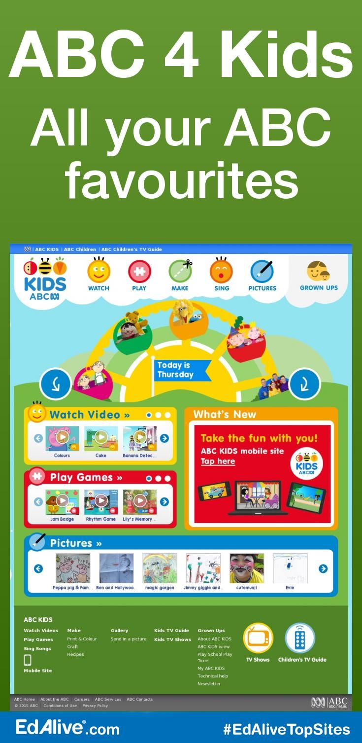 All your ABC favourites | Play with all your ABC TV favourites including Shaun the Sheep, The WotWots, Peppa Pig and the Play School gang. Designed to appeal primarily to pre-school children. It provides a gateway to online content relating to ABC KIDS TV programming, as well as providing games and activities that will appeal to this age group. #EarlyChildhood #EdAliveTopSites