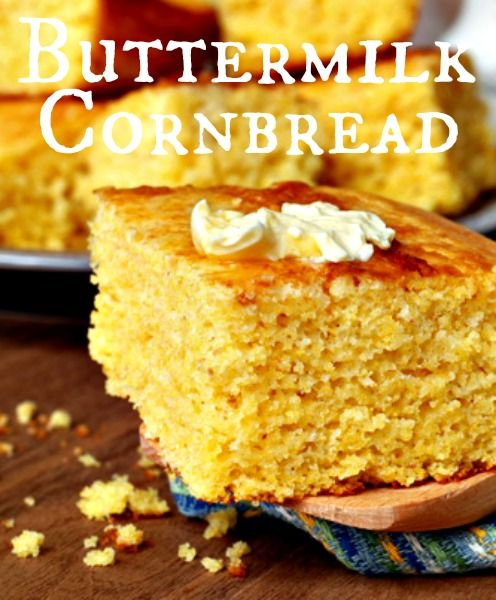 BUTTERMILK CORNBREAD....the most moist, delicious, and sweetest cornbread ever!!! Big hit!!!!
