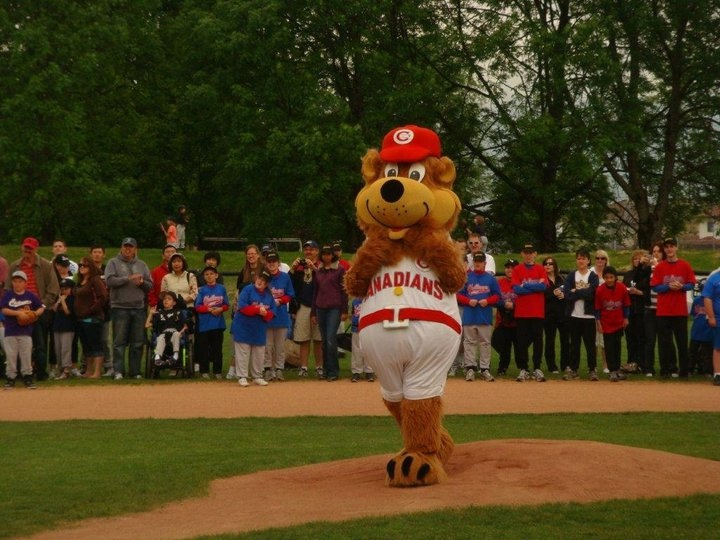 Bob throwing out the 1st pitch on Little League Opening Day!