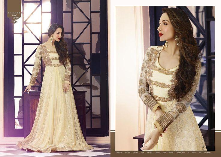 Malaika Arora Khan Designer Georgette Suit with  Santoon bottom and chiffon dupatta(Catalog - 5200)