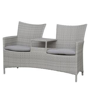 Perfect  Seater Sectional Sofa Set Polyrattan Aluminium Table Armchairs Cushions Garden