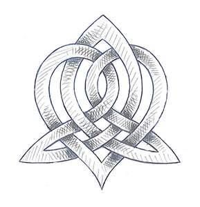 """the """"Triquetra"""", celtic symbol for sisters.."""