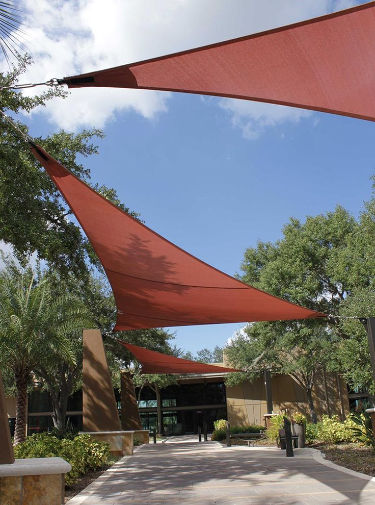 Sails offer sun protection as well as curb appeal. & 19 best Shade Sails - Carolina Shade Sails LLC images on ...