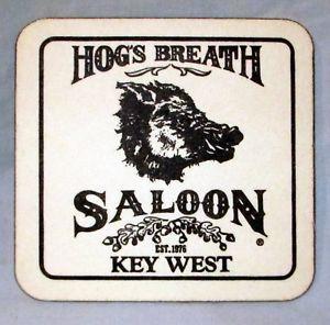 Hog's Breath Coaster Coasters Key West Saloon Set of 9