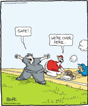 Umpires... blind ones, that is.