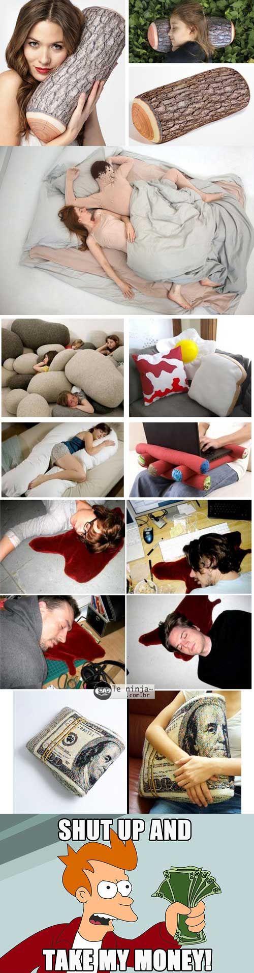 Algumas almofadas criativas - Le Ninja