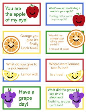 Free Lunch box note printables, creating fun memories for the kids