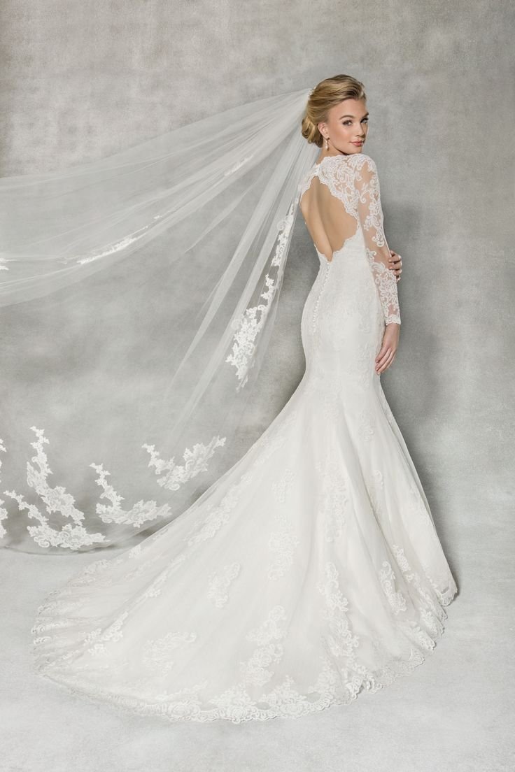 Fall In Love All Over Again With This Figure Flattering Lace Fishtail Gown Alberta