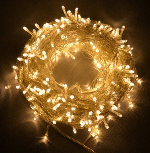 Proxima Direct 100/200/300/400/500 LED String Fairy Lights for Christmas Tree Party Wedding Events Garden (8 Lighting Modes, memory function) - Top Quality (Warm White, 100 LED)