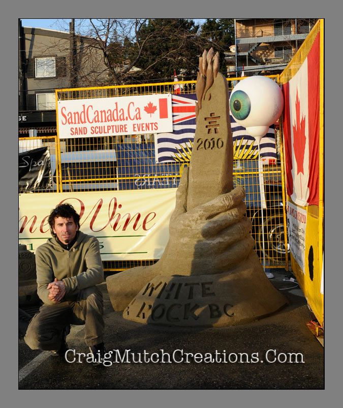 Sand sculpture at White Rock BC Canada
