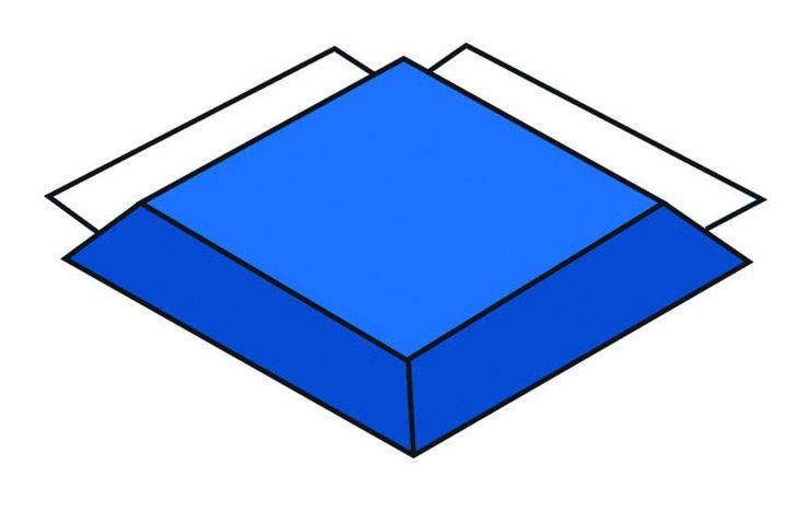 Children's Factory Modular Mat - Blue Corner CF321-549